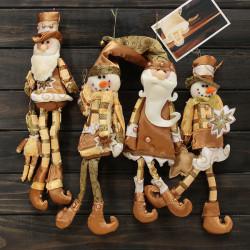Jul Tomte Snögubbe Hängande Prydnad Dörr Häng