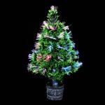 Bunte Lichtwellenleiter Weihnachtsbaum Hausgarten Pub Decor Gartengeräte