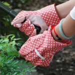 Bomull Gardening Gloves Labor Protective Slip Resistant Gloves Trädgårdsredskap