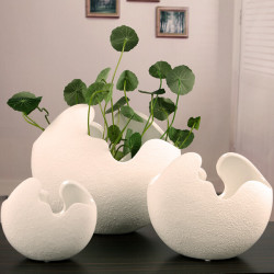 Kreative keramische Eierschale geprägt Desktop Blumentöpfe Topfpflanzen