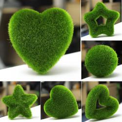 DIY künstliche Moss Ball Stern Herz Topfpflanze Ornament Garten Decor