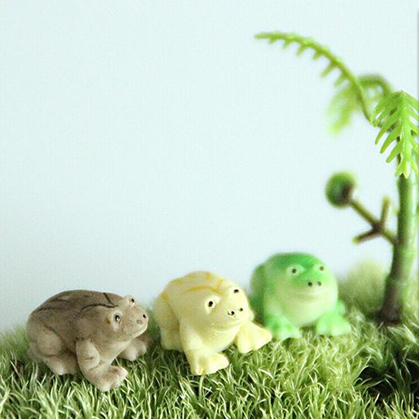 DIY Craft Landscape Minni Frog Potted Plant Garden Decor Gardening