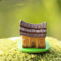 DIY Landskap Mini House Ornament Krukväxt Trädgård Decor