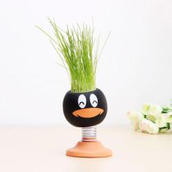 DIY Magie Puppen Kopf Grass Topfpflanze Desktop Office Decor