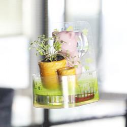 DIY Mini Keramik Tier Chuck Topfpflanze Desktop Office Decor