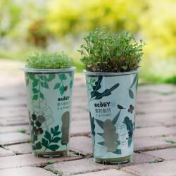 DIY Mini Ceramic Carbon Boll Grass Potted Plant Desktop Office Decor