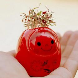 DIY Mini Keramik Puppe Green Grass Topfpflanze Desktop Office Decor