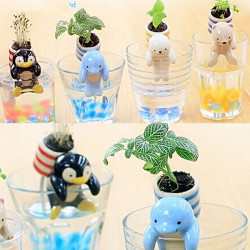 DIY Mini Keramik Sea Freunde Grass Topfpflanze Desktop Dekor