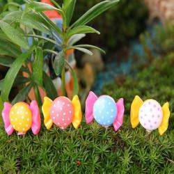 DIY Miniatyr Bow-knut Leksak Ornament Krukväxt Trädgård Decor
