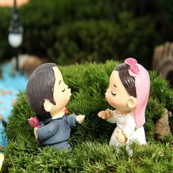 DIY Miniatur Braut Bräutigam Ornamente Topfpflanze Garten Dekoration