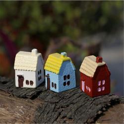 DIY Miniature Country House Ornament Krukväxt Trädgård Decor