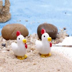 DIY Miniatyr Söt Chick Ornament Krukväxt Trädgård Decor