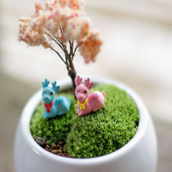 DIY Miniatur Nette Deer Ornaments Topfpflanze Garten Decor
