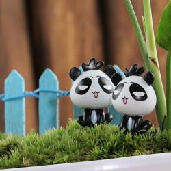 DIY Miniature Sød Panda Dekorationer Potteplante Have Decor