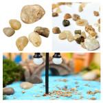 DIY Miniature Landskapsplanering Stone Ornament Krukväxt Decor Garden Trädgårdsredskap