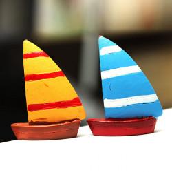 DIY Miniature Lighthouse Yacht Ornament Krukväxt Trädgård Decor