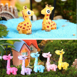 DIY Miniatur Schöne Giraffe Ornamente Topfpflanze Garten Decor