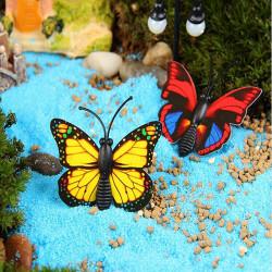 DIY Miniature Multi Fjäril Julgranskulor Krukväxt Trädgård Decor