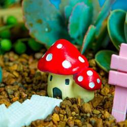 DIY Miniature Svamp House Ornament Krukväxt Trädgård Decor