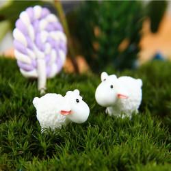 DIY Mini weiße Schafe Ornamente Topfpflanze Garten Decor