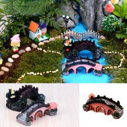 DIY Harz Mini Geländer Brücke Dollhouse Fish Tank Micro Landschaft Dekor Ornament