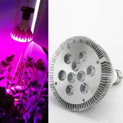 E27 LED 7W 9W Rött och Blått Grow Glödlampor Trädgård Växtlampa
