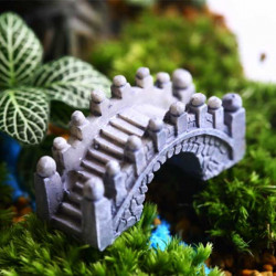 Eco Flaska Dekorationer Stone Bridge Trädgård Micro Landskap