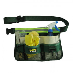 Fasite Canvas Gardening Tools Bags Garden Waist Bag Hanging Pouch