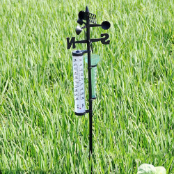 Garden Thermometer Rain Gauge Wind Indicator Outdoor Atmospherium