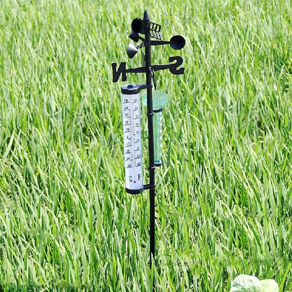 Garden Thermometer Rain Gauge Wind Indicator Outdoor Atmospherium Gardening