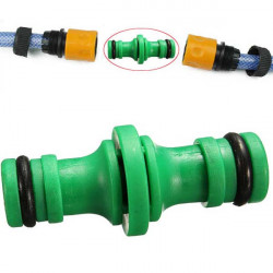 Green Water Pipe Two-way Nipple Joint Hose Plastic Connector Fitting