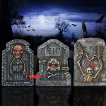 Halloween Horrible Skum Tredimensionale Skull Fake Tombstone Haveredskaber