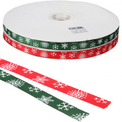 God Jul Snow Ribbon Grosgrain Band Heminredning