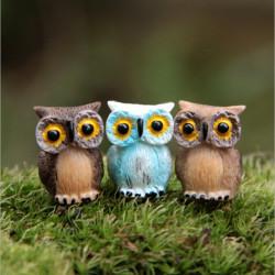 Micro Landskab Decor Resin Mini Owl Have DIY Ornament