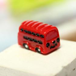 Micro Landschaft Dekoration Mini Red Bus Garten Blumentopf Dekor