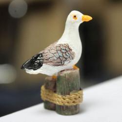 Mikrolandskaps Dekorationer Mini Harts Seagull Trädgård DIY Inredning