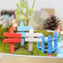 Micro Landskap Dekorationer Mini Trä Vägskylt Trädgård Landscaping
