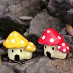 Mikrolandskaps Dekorationer Harts Champinjon House Trädgård DIY Inredning Trädgårdsredskap