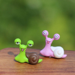 Micro Landscape Dekorations Resin Snail Trädgård DIY Decor