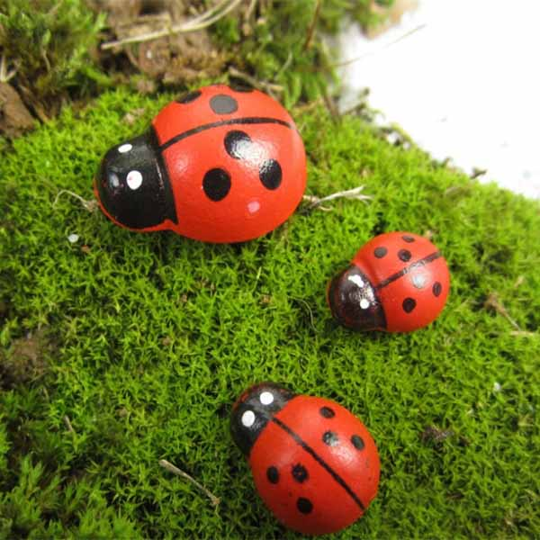 Micro Landskab Træ Rød Ladybug Hjem Have Landskabspleje Decor Haveredskaber
