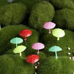 Mini Beach Umbrella Micro Landskab Dekorationer Have DIY Decor
