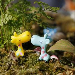 Mini Sød Giraffe Micro Landskab Dekorationer Have DIY Ornament