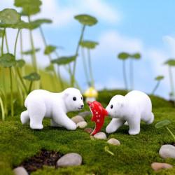 Mini Cute Polar Bear Micro Landscape Garden DIY Decoration