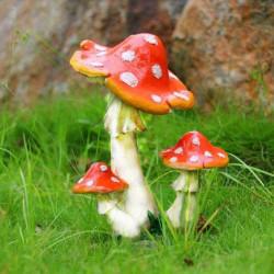 Mini Landskab Resin Mushroom Hjem Kontor Have Dekoration