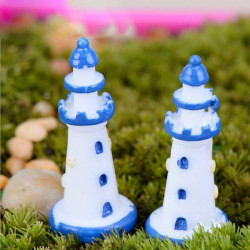 Mini Lighthouse Micro Landskap Dekorationer Trädgård DIY Decor