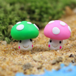 Mini Mushroom Micro Landscape Succulent Planter DIY Dekorationer