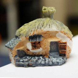 Mini Resin House Micro Landscape Decorations Garden DIY Decor