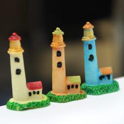 Mini Resin Lighthouse Micro Landscape Decorations Garden DIY Decor