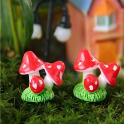 Mini Harts Svamp Micro Landskaps Dekorationer Trädgård DIY Inredning