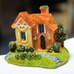 Mini Resin Villa Micro Landskab Dekorationer Have DIY Decor